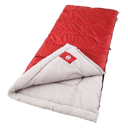 Coleman Palmetto 75x33 In Retangle Sleeping Bag Red/Tan