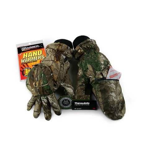 Grabber Convertible Insulated Gloves - Realtree Extra M/L
