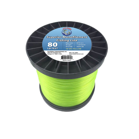 Joy Fish 5 Lb Spool Monofilament Fishing Line-80Lb Hi-Vis