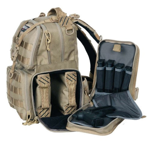 G.P.S. Tactical Range Backpack Tan GPS-T1612BPT