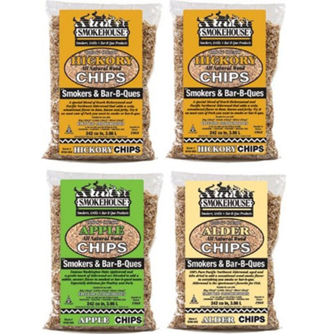 Smokehouse Wood Chips 4 Pack Assortment