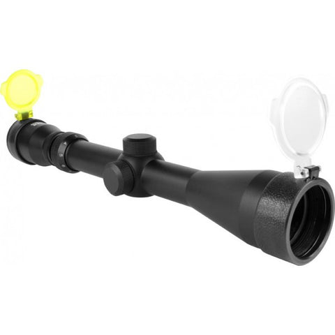Aim Sports 3-9X42mm P4 Sniper Scope Flip Up Lens with Rings