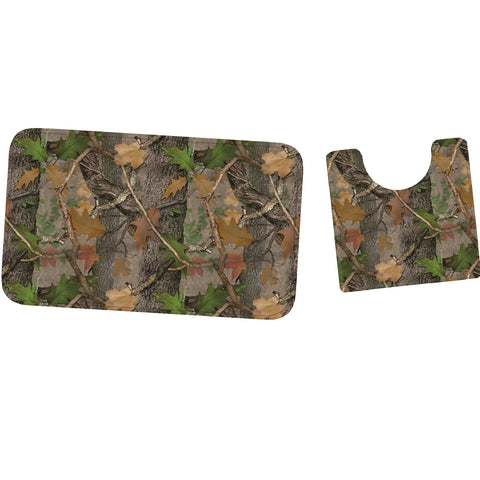 Rivers Edge Fall Transition Camo Mat And Toilet Mat Set