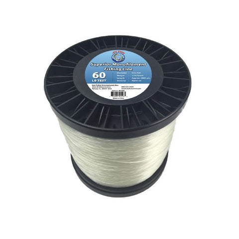 Joy Fish 5 Lb Spool Monofilament Fishing Line-60Lb Clear