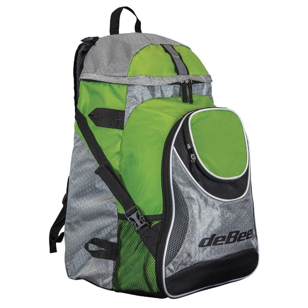 deBeer Lacrosse Gear Pack Back Pack Lime Green