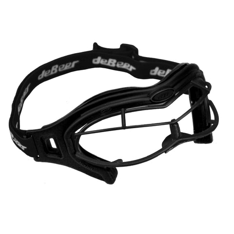deBeer Lacrosse Lucent SI Goggle Black Frame and Wire