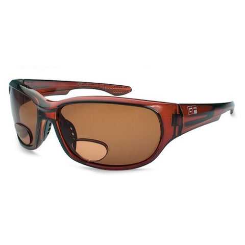Gone Fishing Dorado Dark Crystal Brown Frame/Brown Lens +2.0