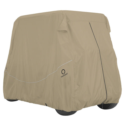 Fairway Golf Cart Quick-Fit Cover Long Roof - Khaki