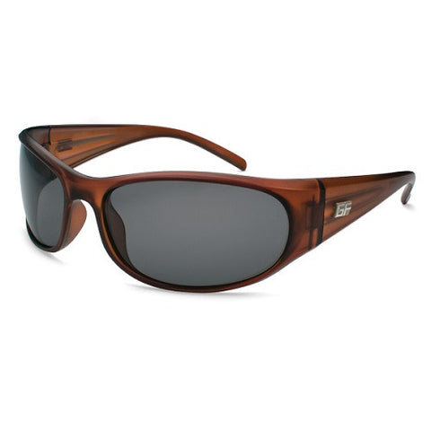 Gone Fishing Seriola Crystal Dark Brown Frame/Grey Lens