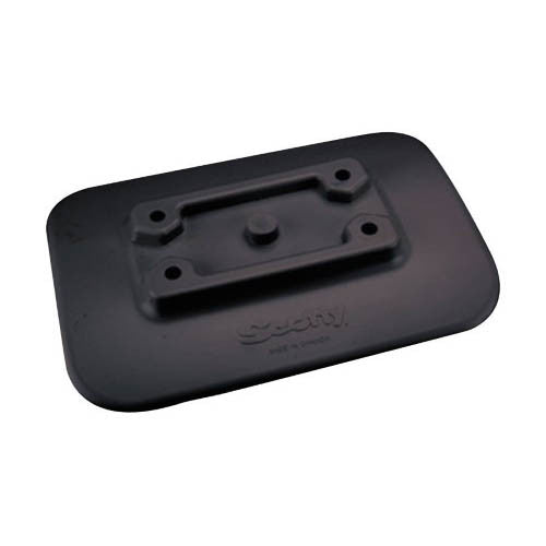 Scotty Glue-On  Pad For Inflatable Boats Black