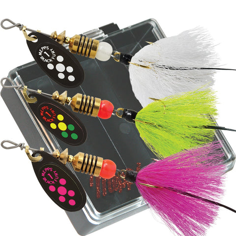 Mepps Trout Pocket Pac - #1 Black Fury Dressed