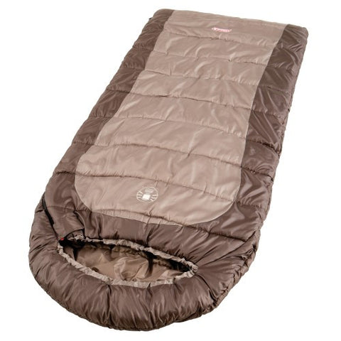 Coleman Basin 85x33 Inch Hybrid Sleeping Bag Brown/Tan
