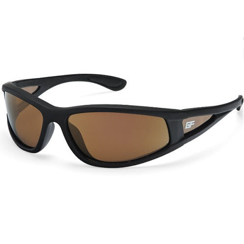Gone Fishing El Martillo Matte Black Frame Brown/Gold Lens