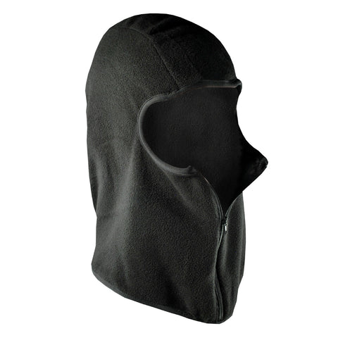Zan Headgear Balaclava Microfleece with Zipper Black