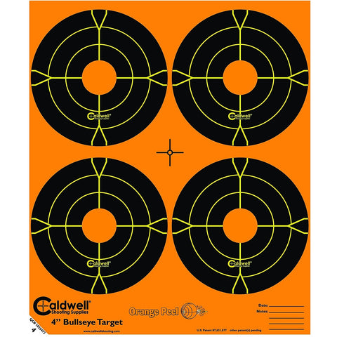 "Caldwell Orange Peel 4"" Bulls-Eye - 25 Sheets"