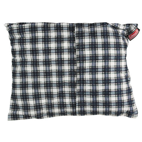 Coleman Fold-N-Go Large Pillow Flannel Navy Plaid 2000013659