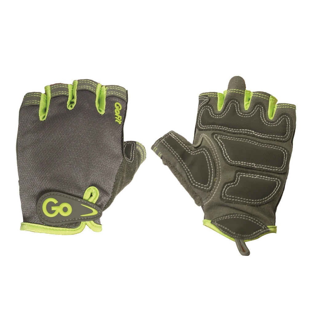 GoFit Women's Pro Sport-Tac Glove Grey/Green Accent - Large