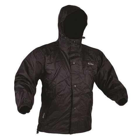 Onyx Outdoor Packable Nylon Rain Jacket Black-Xlarge