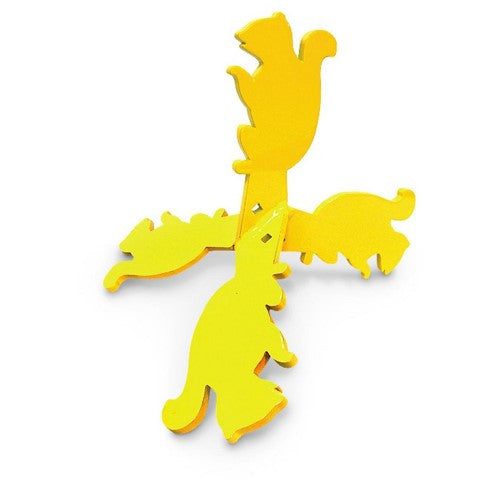 Flippin' Critters Squirrel HG Yellow Walking Hand Gun Target