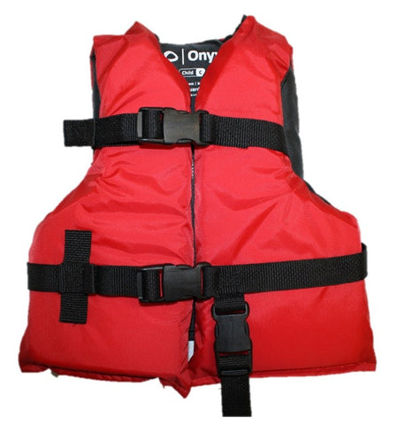 Onyx Child Boating Vest Red/Black