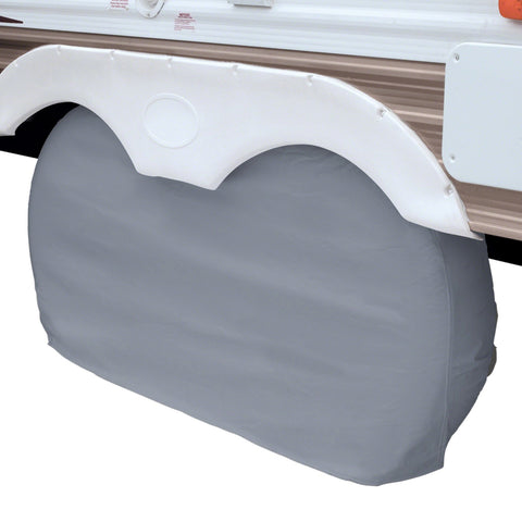 "Classic Accessories RV Dual Axle Wheel Cover 30"" - 33"" Grey"