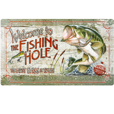 American Expedition Cutting Board - Fishing Hole Bass