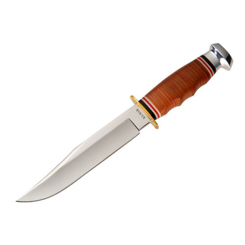 Ka-Bar Leather Handle Bowie Knife