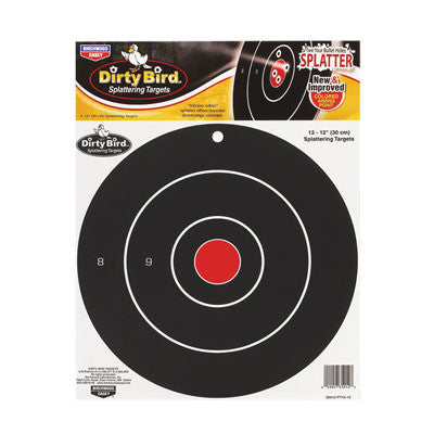 BW Casey Dirty Bird Target 12 inch Bull 12 Pack