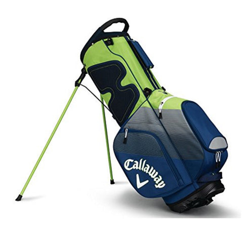 Callaway CHEV Stand Bag - Navy/Silver/Green