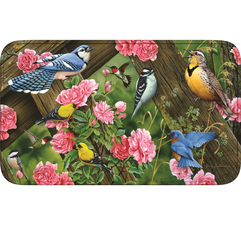 Rivers Edge Songbirds Memory Foam Mat 31.5in x 20in
