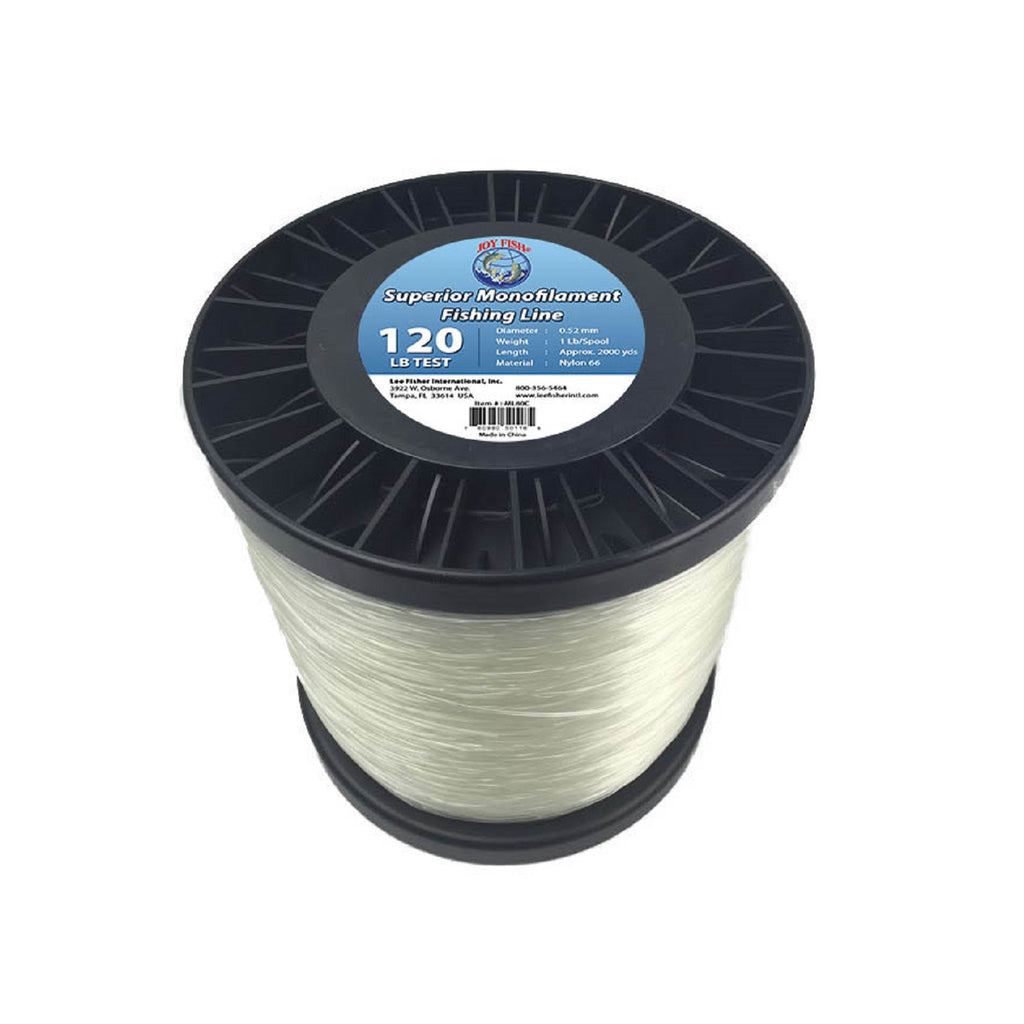 Joy Fish 5 Lb Spool Monofilament Fishing Line-120Lb Clear