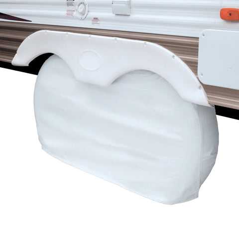 "Classic Accessories RV Dual Axle Wheel Covers 27"" Snow White"