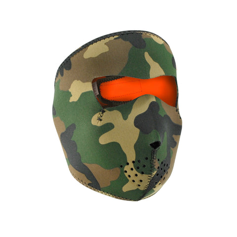 Zan Headgear Reversible Full Mask Camo to High-Vis Orange