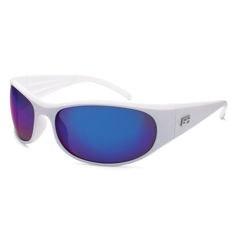 Gone Fishing Seriola Matte White Frame Gray Sapphire Lens