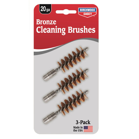 Birchwood Casey Bronze Brush 20/28 Gauge - 3 Pack