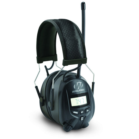 Walkers Digital AM/FM Radio Power Muff Black