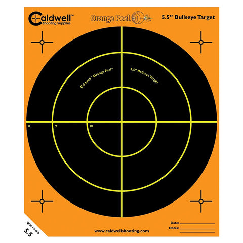 "Caldwell Orange Peel 5.5"" Bulls-Eye - 50 Sheets"