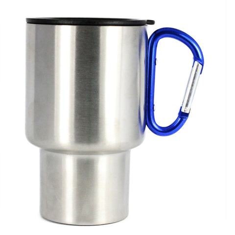 AGS Brand Stainless Steel Carabiner Mugs 8oz. -3 Pack