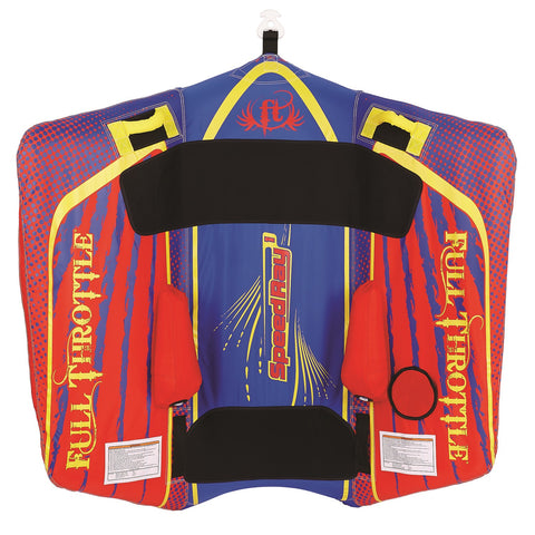 Full Throttle Speed Ray 1 - 1 Rider, Color is Red/Blue