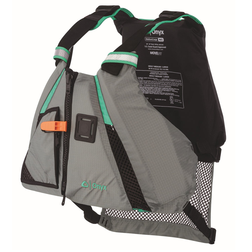 Onyx Outdoor Movevent Dynamic Vest-Aqua-XL/2XL