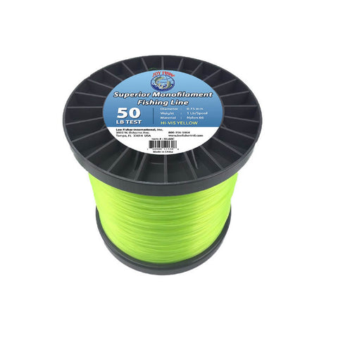 Joy Fish 5 Lb Spool Monofilament Fishing Line-50Lb Hi-Vis