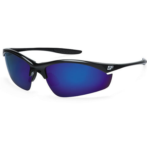 Gone Fishing Stingray Black Frame Grey Sapphire Mirror Lens