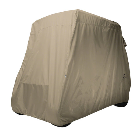 Classic Accessories Golf Cart Cover Short Roof Light Khaki