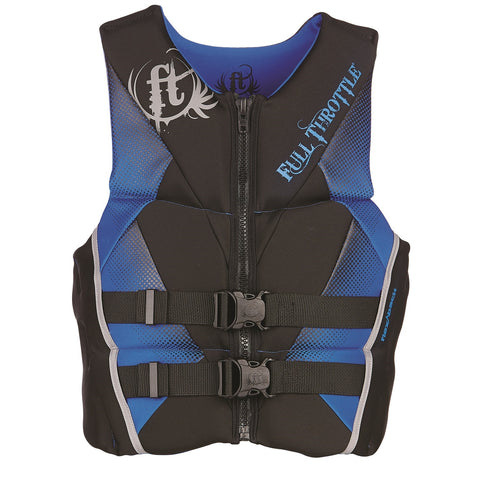 Full Throttle Men's Hinged Rapid-Dry Flex-Back Vest Blue-M