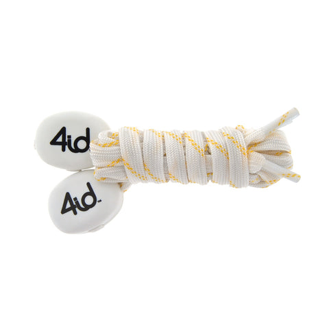 4id PowerLacez Light Up Shoelaces White