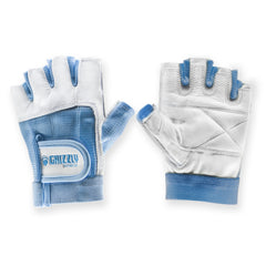 Womens Blue Grizzly Paw Gloves - Small
