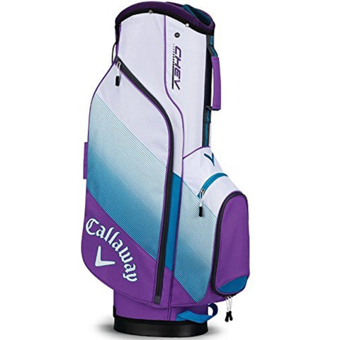 Callaway CHEV Cart Bag - Violet/Teal/White
