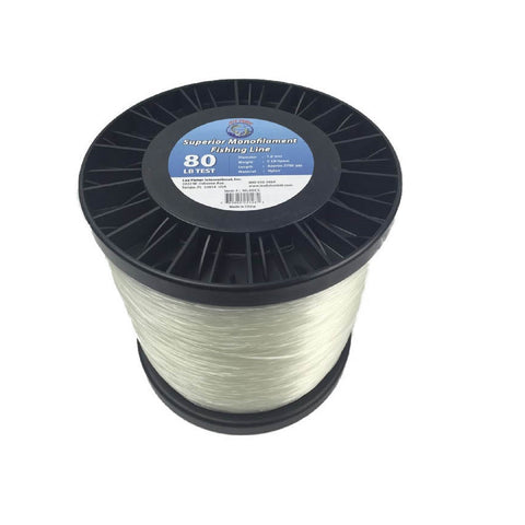 Joy Fish 5 Lb Spool Monofilament Fishing Line-80Lb Clear
