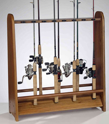 ORG FISH-PINE 16 ROD RACK W/   RUBBER CLIPS SFR-016
