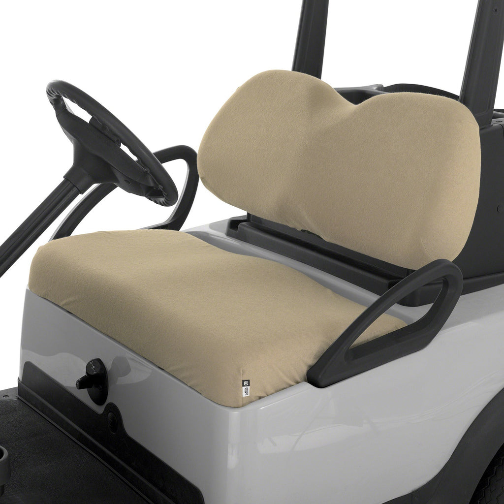 Classic Accessories Terry Cloth Golf Cart Seat Saver Khaki